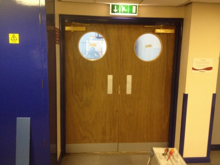 Carlton Forum Leisure Centre Doors Before